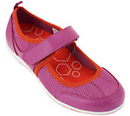 Vionic w/ Orthaheel Leather Mary Jane Sneakers - Ailie - A263506