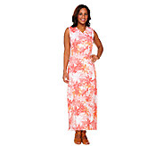 Denim & Co. Floral Printed Sleeveless Maxi Dress - A264706