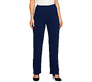 As Is Susan Graver Brushed Back Knit Pull- On Pants - Regular - A265806