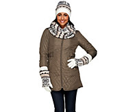 MUK LUKS Reversible Scarf, Hat & 3-in-1 Gloves Gift Set - A267706