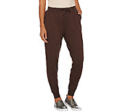 Lisa Rinna Collection Drawstring Knit Pants with Banded Bottom - A268106