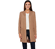 Susan Graver Rayon Nylon Long Sweater Cardigan - A269306