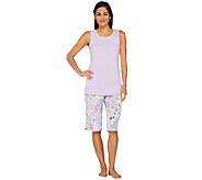 As Is LOGO Luna by Lori Goldstein Tank & Pedal Pusher Pajama Set - A271706