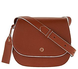 Isaac Mizrahi Live! Nolita Pebble Leather Saddle Handbag