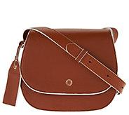 Isaac Mizrahi Live! Nolita Pebble Leather Saddle Handbag - A276206