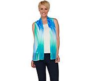 Susan Graver Printed Sheer Chiffon Vest - A277806