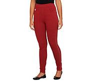 As Is Quacker factory DreamJeannes Short Slim Leg Leggings - A278206