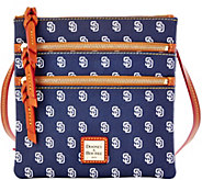 Dooney & Bourke MLB Padres Triple Zip Crossbody - A280006