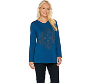 Susan Graver Artisan Embellished French Terry Tunic - A282106