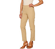 As Is Isaac Mizrahi Live! Tall 24/7 Stretch Ankle Pants w/ Seam - A283106