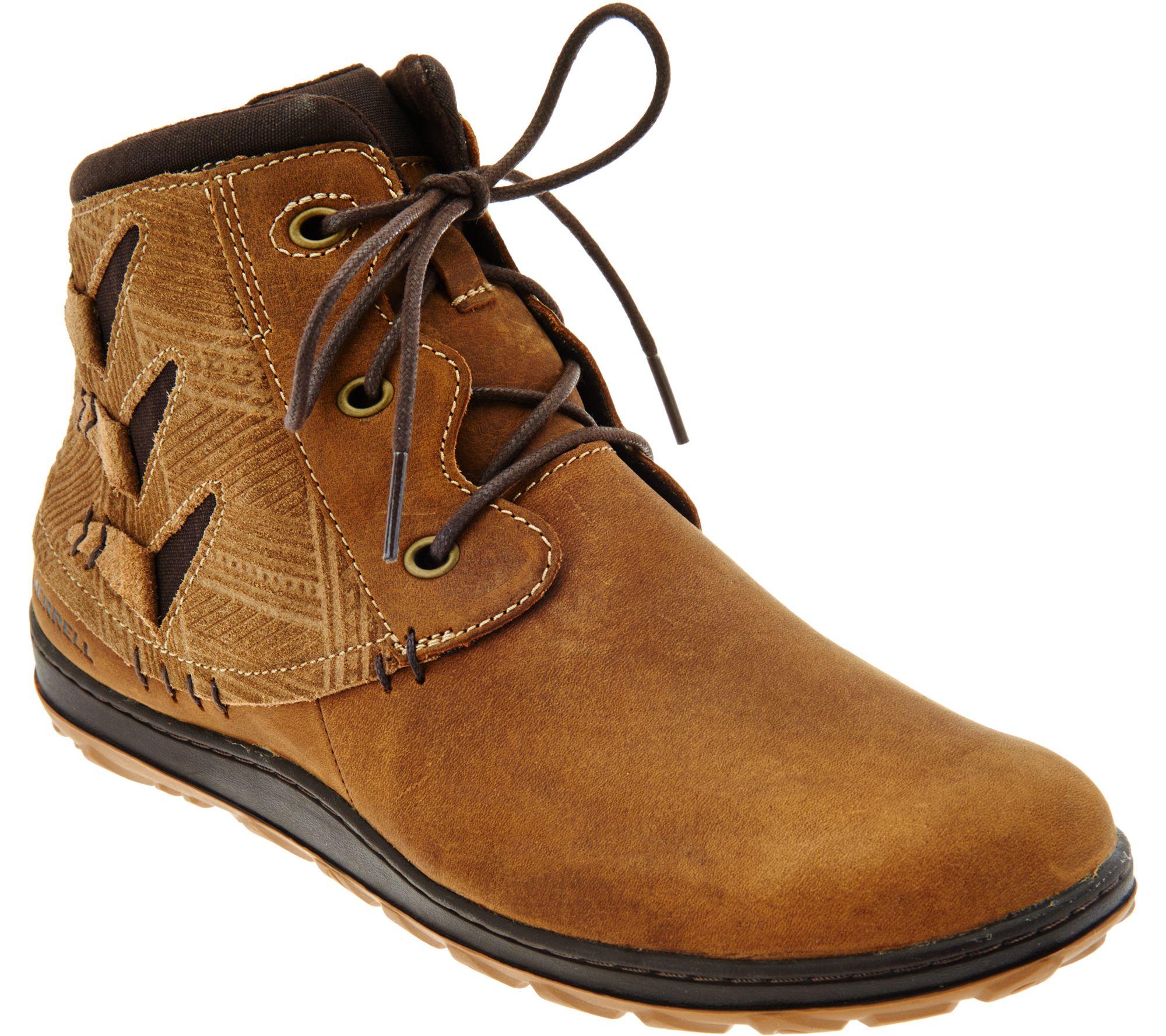 Merrell Womens/Ladies Ashland Vee Ankle Waterproof Leather Boots Descuento últimas colecciones barato 2018 Nuevo 419M1h