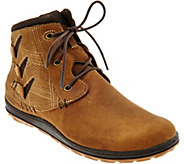 Merrell Leather Lace-up Ankle Boots - Ashland Vee Ankle - A284906