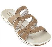 As Is Clarks Lightweight Multi-strap Slide Sandals - Brinkley Lonna - A286406