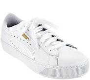 PUMA Leather or Suede Platform Sneakers - Vikky Platform - A288306