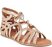 Gentle Souls Leather Lace-up Sandals - Break My Heart - A291806