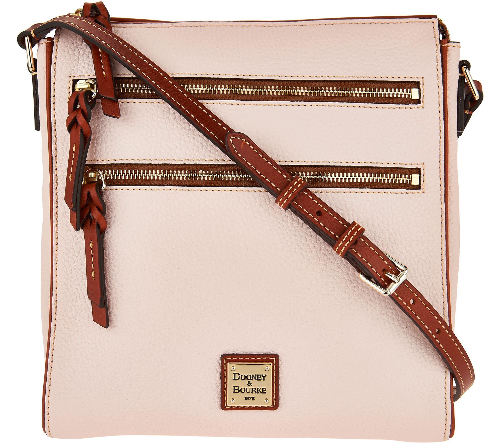 clearance designer handbags p5ys  Dooney & Bourke Pebble Leather Triple Zip Crossbody Handbag
