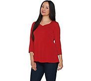 Susan Graver Modern Essentials Liquid Knit Fit & Flare Top - A293606