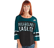 NFL Womens 3/4 Sleeve Mesh Top - A296206