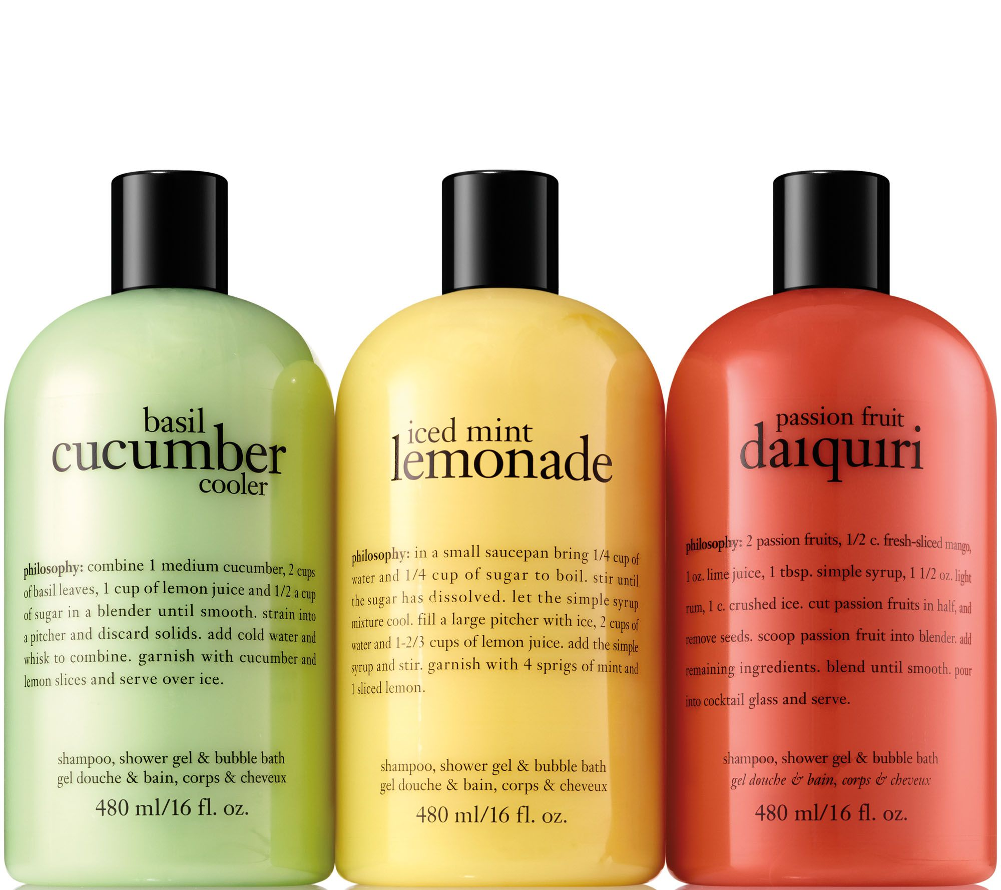 philosophy summer coolers shower gel trio Page 1 — QVC