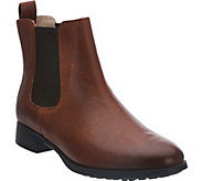 As Is Clarks Narrative Leather Chelsea Boots - Mariella Busby - A298106