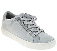 Skechers Velvet Lace-up Sneakers - Side Street - A298306
