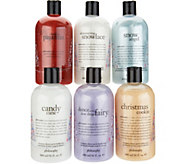 philosophy holiday edition 6-piece shower gel set - A298606