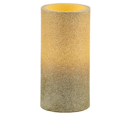 Pacific accents glitter pillar candle for Shimmer pillar candle