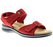 Flexus by Spring Step Danila Leather Quarter-Strap Sandals - A332006
