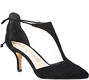 Sole Society T-Strap Suede Pumps - Dree - A357006