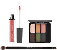 EVE PEARL Ultimate Eye Palette w/ Gloss & 207 Dual Brush - A411306