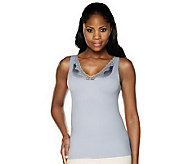 Kathleen Kirkwood Smooth & Lush Waist Slimming Cami with Lace - A213107
