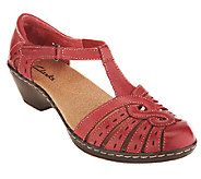 Clarks Leather Cut-out Sandals - Wendy Tiger - A231007
