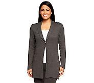 Liz Claiborne New York Cotton Cashmere Shawl Collar Cardigan - A236607