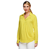 Styled by Joe Zee V-neck Convertible Blouse - A237907