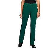 Isaac Mizrahi Live! Icon Grace Petite Ponte Knit Pants - A239107