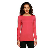 Susan Graver Essentials Rayon Nylon Bateau Neck Sweater - A239807