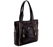 As Is Muxo by Camila Alves Glazed Leather Tote - A254207
