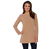 Susan Graver Passport Knit Long Sleeve Bateau Neck Tunic - A269307