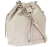 As Is Marc Fisher Drew Leather & Suede Bucket Bag - A269807