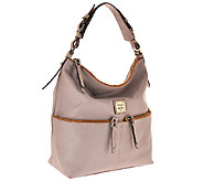 As Is Dooney & Bourke Seville Leather Callie Hobo - A272407