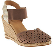Adam Tucker Suede or Nubuck Perforated Wedges - Brittany - A274307
