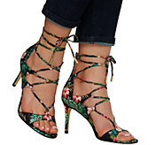 Marc Fisher Floral Lace-up Sandal Pumps - Benete - A275907