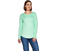 Denim & Co. Essentials Long Sleeve T-shirt with Pocket - A276507
