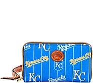 Dooney & Bourke MLB Nylon Royals Zip Around Phone Wristlet - A281707
