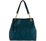 C. Wonder Pebble Leather Large Satchel Handbag with C Detail - A282207