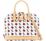 Dooney & Bourke NCAA University of Louisville Zip Zip Satchel - A283207