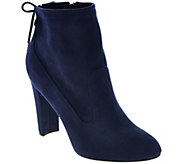 As Is Marc Fisher Faux- Suede Ankle Boots w/ Tie Back - Justice - A288907