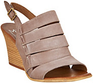 As Is Miz Mooz Leather Slingback Wedge Sandals - Kenmare - A298107