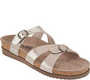 MEPHISTO Leather Double Strap Slide Sandals - Hannel - A298807
