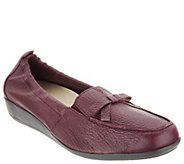 Vitaform Leather Loafers with Bow Detail - A300307